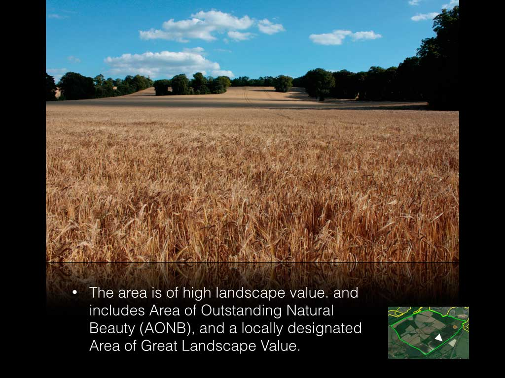 The University of Surrey is planning to build 3250 homes on this open farmland.